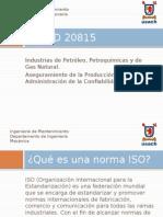 ISO 20815 Explicación