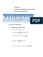 Resultados y Graficas Lab Mecanica Potencia