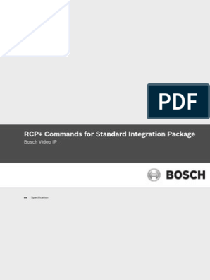 Rcp Commands for Standard Integration Package 2013-11-08