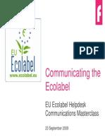 Communicating the Ecolabel