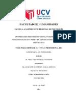 PROPIEDADES PSICOMÉTRICAS DEL CUESTIONARIO DE GRESIÓN DE BUSS Y PERRY EN ESTUDIANTES DE EDUCACIÓN  SECUNDARIA