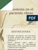 Anestesia en El Paciente Obeso