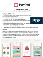 PatPat SEO and Media Audit