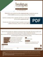 INVITACIÓN TRESAGUAS RUTAS GUIADAS
