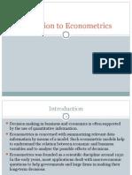 Ppt 1 Introduction to Econometrics