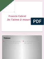 Francis Cabrel - Je 'Aime a Mourir