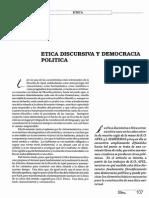 Ética Discursiva y Democracia Política