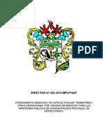 MODELO DE Directiva de Viaticos 2-2015
