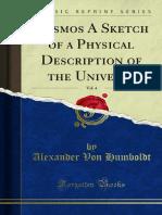 Cosmos - A Sketch of Physical Description of the Universe - Alexander Von Humboldt - Volume 4