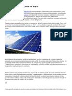 Usar energ?a Solar para su hogar