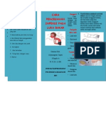 Leaflet Pencegahan Infeksi Luka Bakar