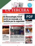 Diario La Tercera 29.09.2015