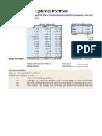 Sharpe Ratio Optimal Portfolio