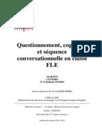 Questionnement Et Médiation Cognitive