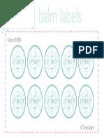 Mint Lip Balm Labels