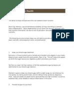 8 Steps to Brain Health