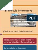 articulos informativos