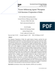Analysis of Factors Influencing Agents' Perception towards Life Insurance Corporation of India