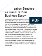 Organization Structure of Maruti Suzuki Business Essay