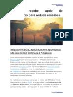 Agronegócio Brasileiro vai ajudar a Reduzir Emissões