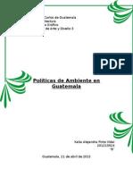Política de Ambiente Guatemala