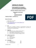 Advanced Corporate Finance Module-student Edition