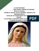 Mensaje de La Virgen