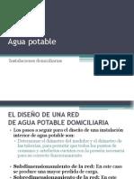 Diseño Red Agua Potable