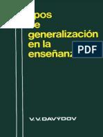 Davydov, V. v. - Tipos de Generalizacion en La Ensenanza