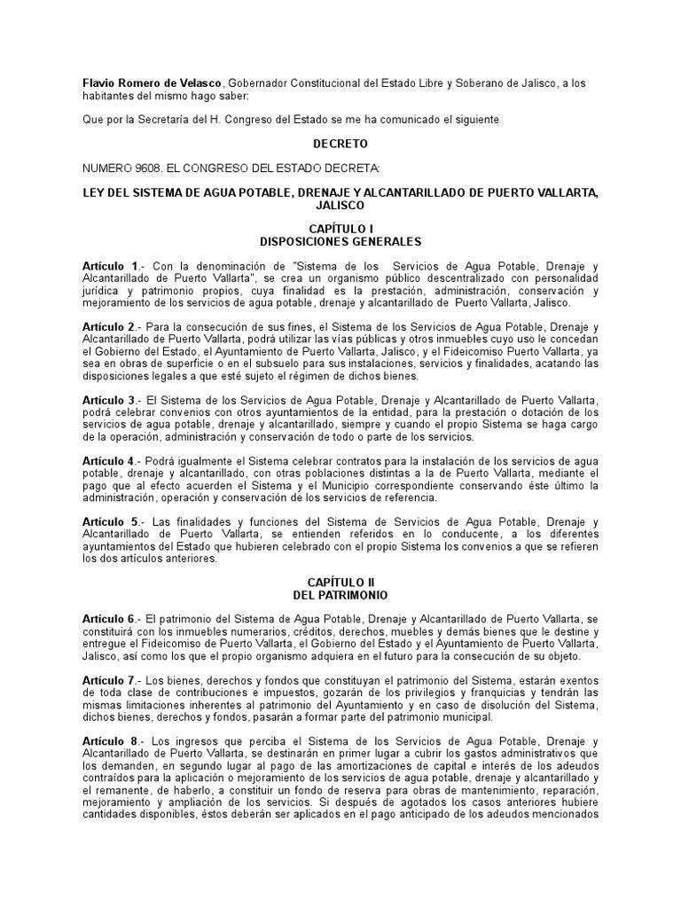 Ley Del Sistema De Agua Potable Drenaje Y Alcantarillado De  # Muebles En Kaqchikel