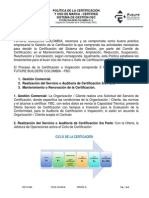 PE-D03 POLITICA CERTIFICACIÓN USO MARCA CERTIFIED OEC