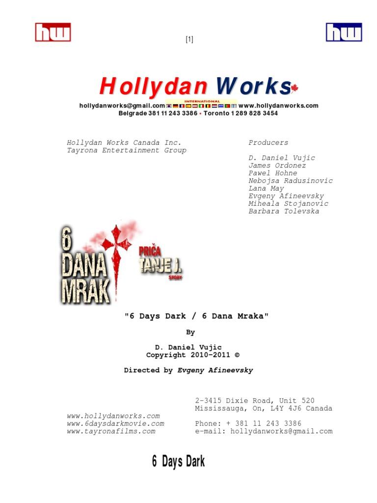 Ana Maljevic Nude 6 days dark actors script v2 sep 2011_final draft | bedroom