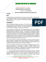 Ordenanza Municipal 009 Reglamento Mercados