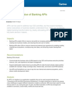 Gartner - The Business Value of Banking APIs