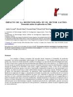 Impacto de La Biotecnologia en El Sector Lacteo Potenciales Nichos de Aplicacion en Chile