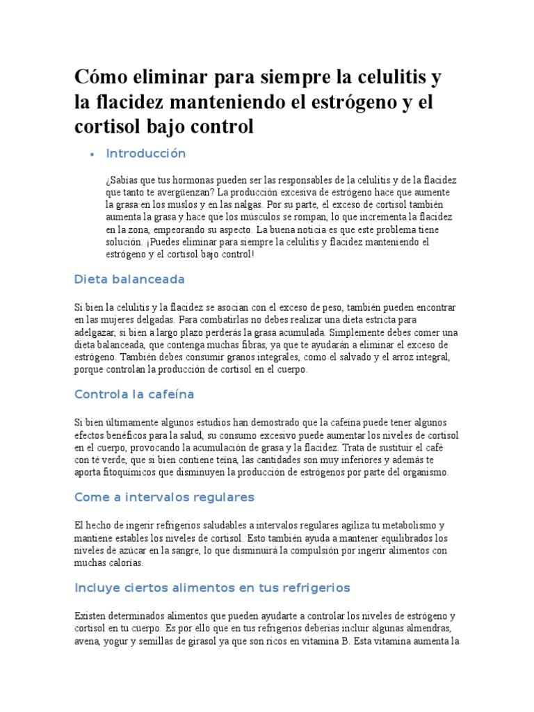 dieta para eliminar celulitis y flacidez