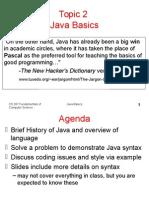 Topic 2 Java Basics