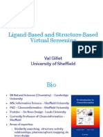 1 - Val Gillet - Ligand-based and Structure-based Virtual Screening