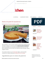 Pepekitchen Receta de Pastel de Zanahorias - Pepekitchen