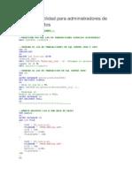 Scripts de Utilidad Para Administradores de Bases De