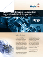 Mean value internal combustion engine model with MapleSim