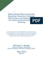 Metal Oxide Nanocomposite Nanoliter Reaction Chamber Fabrication and Applications for Harsh Environment Gas Sensing