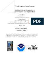 Landscape effects on stream temperature in Minnesota streams of the Lake Superior Basin (306-star08-08)