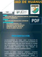 REALIDAD DE LOS UNIVERSITARIOS, UNIVERSIDAD, SOCIEDAD Y EMPRESA