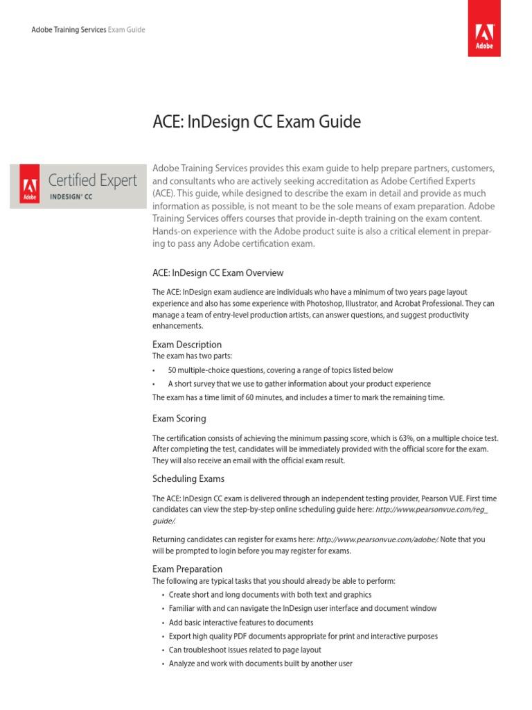 sampleExam Adobe indesign | Portable Document Format | Hyperlink