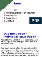 Consumer Behaviour Audiovisualizing