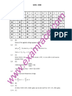 GATE Electrical Engineering 2009 Answers