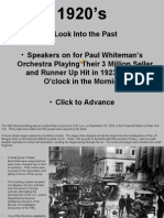 A Look Into the Past • Speakers
