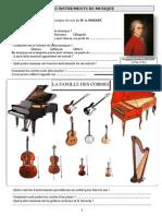 Les Instruments de Musique - feuille