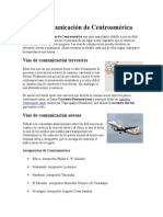 Vías de Comunicación de Centroamérica